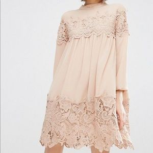 Dresses & Skirts - ASOS long sleeve smock dress with lace